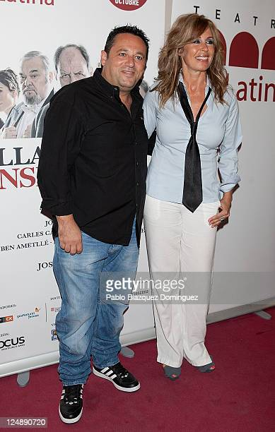 Spanish actors Pepon Nieto and Miriam Diaz Aroca attends 'Llama a un Inspector' Premiere at La Latina Theatre on September 13 2011 in Madrid Spain