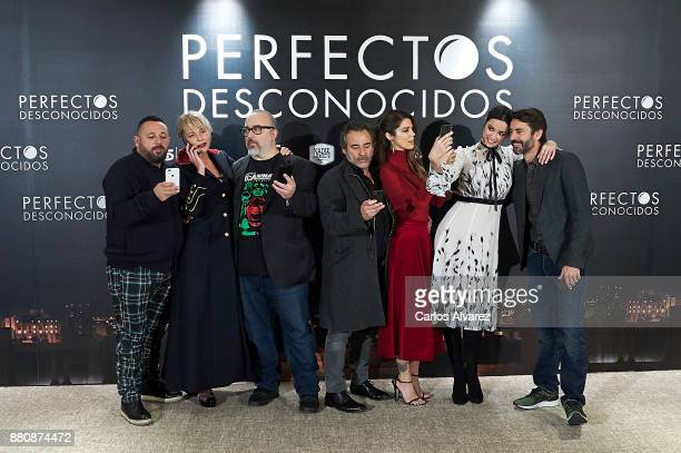 Spanish actors Pepon Nieto Belen Rueda director Alex de la Iglesia actors Eduard Fernandez Juana Acosta Dafne Fernandez and Eduardo Noriega attend...
