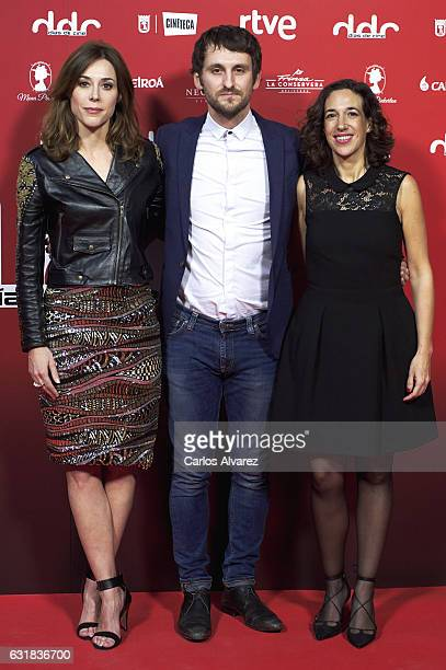 Spanish actors Ruth Diaz Raul Arevalo and Beatriz Bodegas attend 'Dias de Cine' awards 2016 at Cineteca cinema on January 16 2017 in Madrid Spain