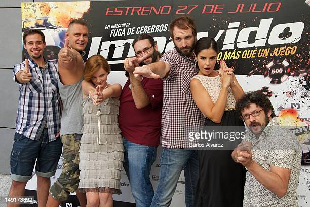 "Spanish actors Selu Nieto, Nacho Vidal, Carolina Bona, director Carlos Theron, Julian Villagran, Marta Torne and Manolo Solo attend ""Impavido""..."
