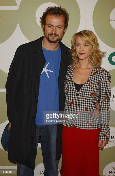Spanish actors Tristan Ulloa and Maria Estevez attend the seventh annual GQ fashion show party October 8 2001 in Madrid Spain