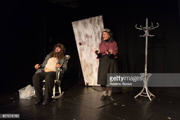 Spanish actors Txema Perez and Lana Biba perform 'Losing It' on stage during the annual Edinburgh Festival Fringe at Zoo Venues on August 6 2017 in...