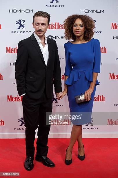 Spanish actors Victor Clavijo and Montse Pla attend the Men's Health 2014 awards at the Goya Theater on October 28 2014 in Madrid Spain