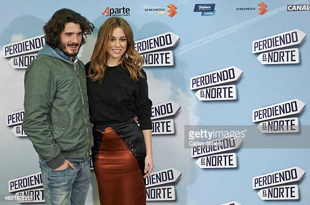 Spanish actors Yon Gonzalez and Blanca Suarez attend the 'Perdiendo el Norte' photocall at the Intercontinental Hotel on March 3 2015 in Madrid Spain