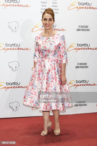 Spanish actress Adriana Ozores attends the Bambu 10th anniversary party at Gran Maestre Theater on July 5 2018 in Madrid Spain