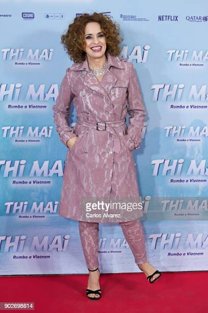Spanish actress Adriana Ozores attends 'Thi Mai Rumbo a Vietnam' premiere at the Callao cinema on January 8 2018 in Madrid Spain