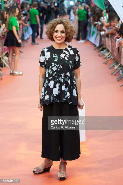 Spanish actress Adriana Ozores attends 'Velvet Colecction' premiere at the Principal Teather during the FesTVal 2017 on September 5 2017 in...