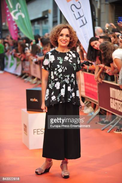 Spanish actress Adriana Ozores attends 'Velvet Colecction' premiere during the FesTVal 2017 on September 5 2017 in VitoriaGasteiz Spain