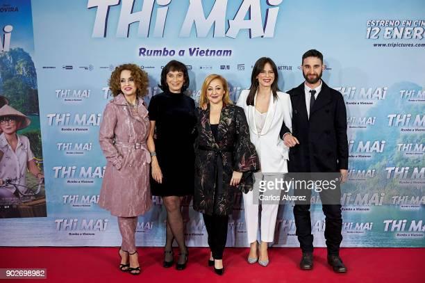Spanish actress Adriana Ozores director Patricia Ferrera actresses Carmen Machi Aitana Sanchez Gijon and actor Dani Rovira attend 'Thi Mai Rumbo a...