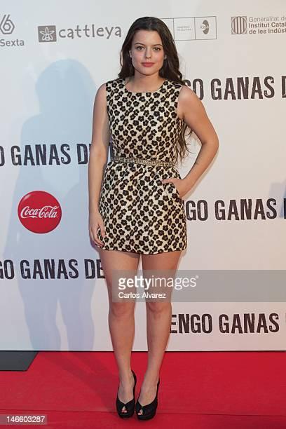 Spanish actress Adriana Torrebejano attends 'Tengo Ganas de Ti' premiere at Callao cinema on June 20 2012 in Madrid Spain