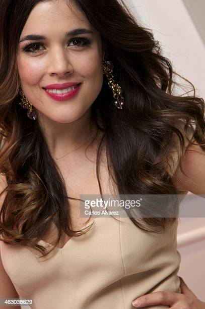 Spanish actress Adriana Ugarte inaugurates the new 'Benefit' cosmetic flagship stiore on January 16 2014 in Madrid Spain