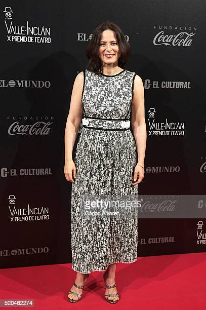 Spanish actress Aitana Sanchez Gijon attends the 10th ValleInclan Theatre awards at the Royal Theatre on April 11 2016 in Madrid Spain