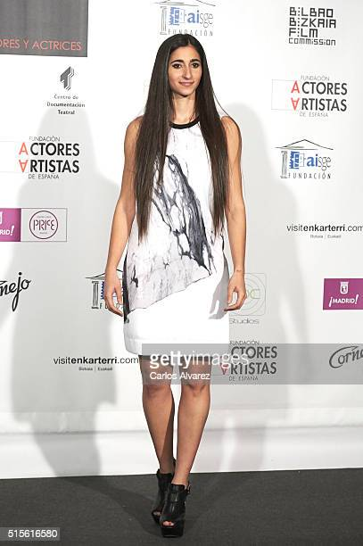 Spanish actress Alba Flores attends the Union de Actores awards 25th anniversary at the Circo Price on March 14 2016 in Madrid Spain