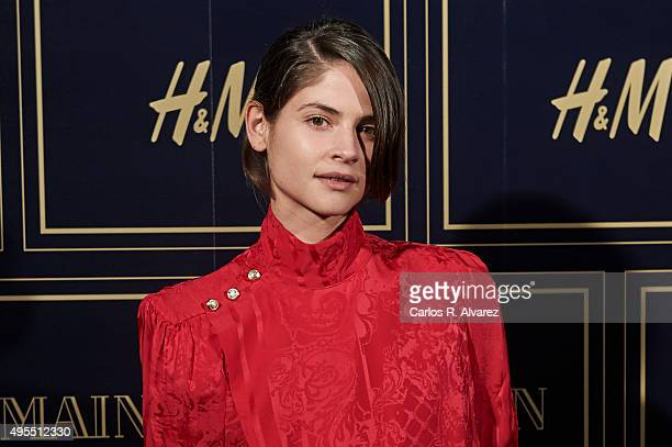 Spanish actress Alba Galocha attends the Balmain and HM Collection launch party at the Neptuno Palace on November 3 2015 in Madrid Spain