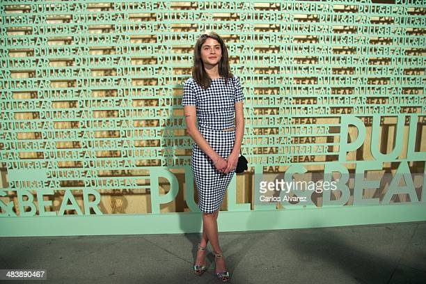 Spanish actress Alba Galocha attends the 'Pull Bear' party at the Cibeles Palace on April 10 2014 in Madrid Spain