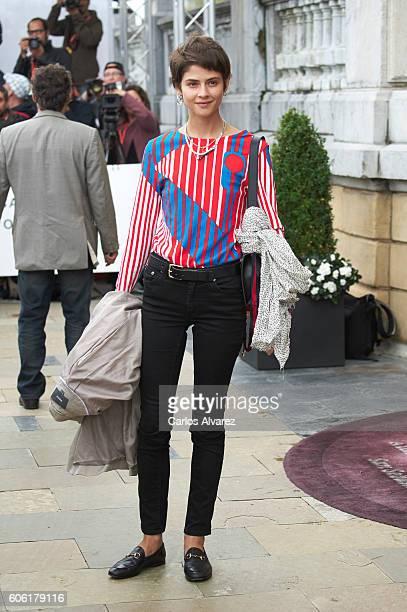 Spanish actress Alba Galocha is seen arriving at Maria Cristina Hotel during 64th San Sebastian International Film Festival on September 16 2016 in...