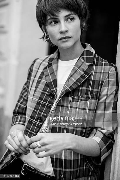 Spanish actress Alba Galocha poses for a portrait session during the promotion of the film 'No Culpes Al Karma De Lo Que Te Pasa Por Gilipollas' on...