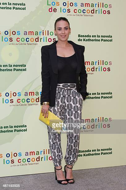 Spanish actress Alba Garcia attends the Los Ojos Amarillos de los cocdrilos premiere at the Academia de Cine on April 30 2014 in Madrid Spain