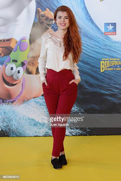 Spanish actress Alba Messa attends the 'Bob Esponja' Premiere at Kinepolis Cinema on January 31 2015 in Madrid Spain