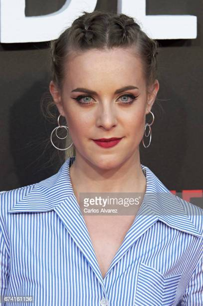 Spanish actress Alba Ribas attends 'Las Chicas Del Cable' premiere at the Callao cinema on April 27 2017 in Madrid Spain