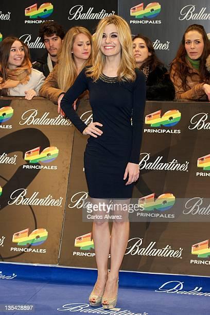 Spanish actress Alejandra Jimenez attends 40 Principales Awards 2011 photocall at Palacio de los Deportes on December 9 2011 in Madrid Spain