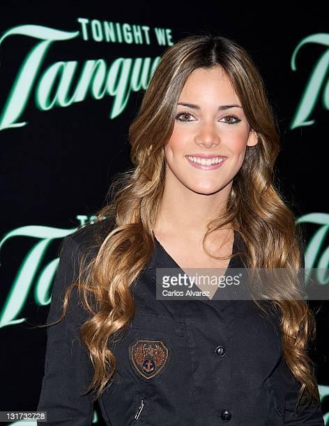 Spanish actress Alejandra Onieva attends Aloe Blacc concert photocall at Joy Eslava Club on November 7 2011 in Madrid Spain