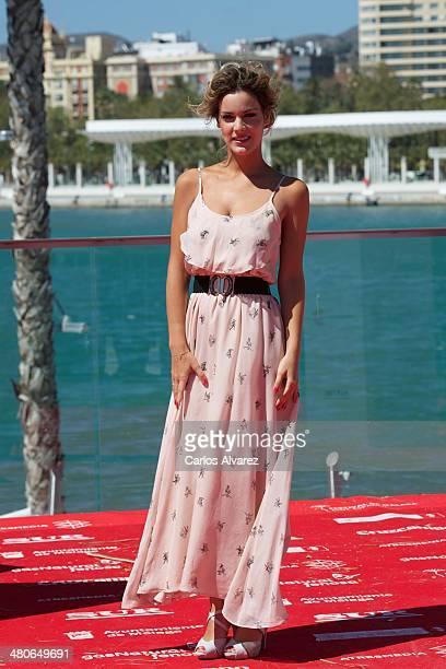 Spanish actress Alejandra Onieva attends the Por un Punado de Besos photocall during the 17th Malaga Film Festival 2014 Day 6 on March 26 2014 in...