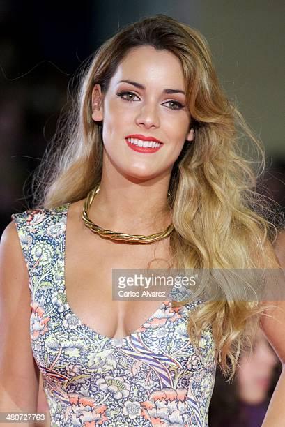 Spanish actress Alejandra Onieva attends the Por un Punado de Besos premiere during the 17th Malaga Film Festival 2014 Day 6 at the Cervantes Theater...