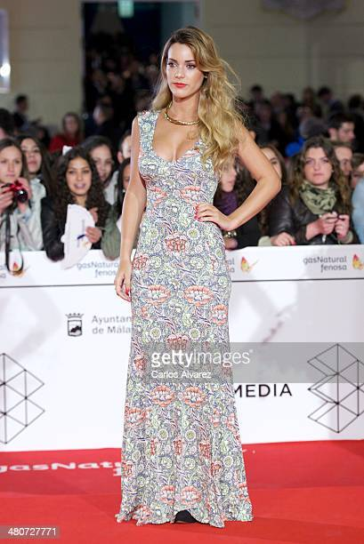 Spanish actress Alejandra Onieva attends the 'Por un Punado de Besos' premiere during the 17th Malaga Film Festival 2014 Day 6 at the Cervantes...