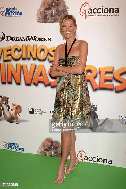 Spanish actress Alejandra Prat attends the Spanish Premiere of 'Over The Hedge' at the Palacio de la Musica Cinema on May 25 2006 in Madrid Spain
