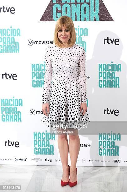 Spanish actress Alexandra Jimenez attends Nacidas Para Ganar photocall at the Eurobuilding Hotel on May 04 2016 in Madrid Spain