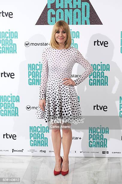 Spanish actress Alexandra Jimenez attends Nacidas Para Ganar photocall at the Eurobuilding Hotel on May 04 2016 in Madrid Spain