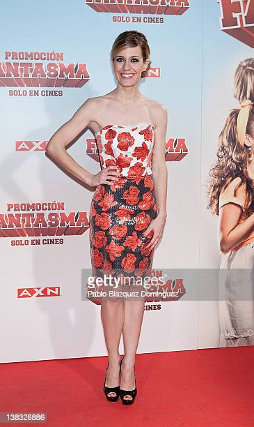 Spanish actress Alexandra Jimenez attends 'Promocion Fantasma' premiere at Capitol Cinema on February 2 2012 in Madrid Spain