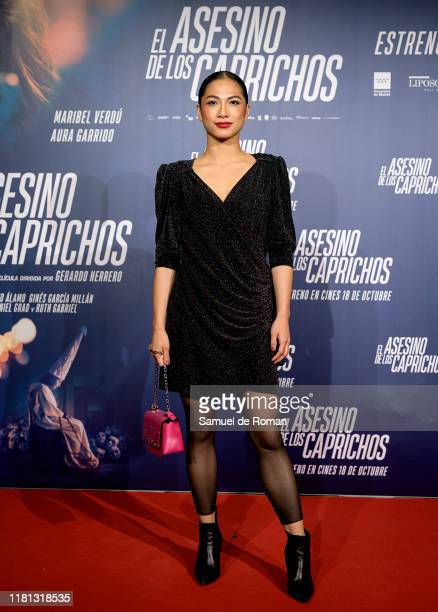 Spanish actress Alexandra Masangkay attends El Asesino De Los Caprichos Premiere In Madrid on October 15 2019 in Madrid Spain