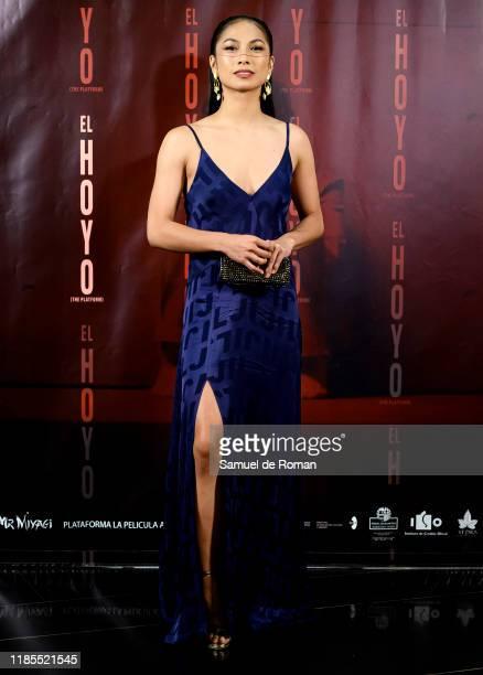 Spanish actress Alexandra Masangkay attends El Hoyo Madrid Premiere on November 04 2019 in Madrid Spain