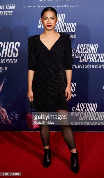 Spanish actress Alexandra Masangkay attends the premiere of 'El Asesino de los Caprichos' on October 15, 2019 in Madrid, Spain.