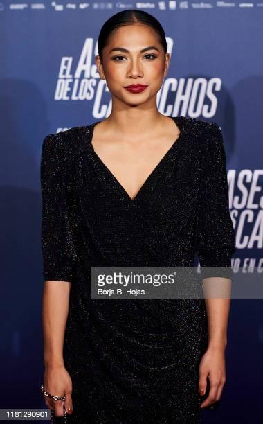 Spanish actress Alexandra Masangkay attends the premiere of 'El Asesino de los Caprichos' on October 15 2019 in Madrid Spain