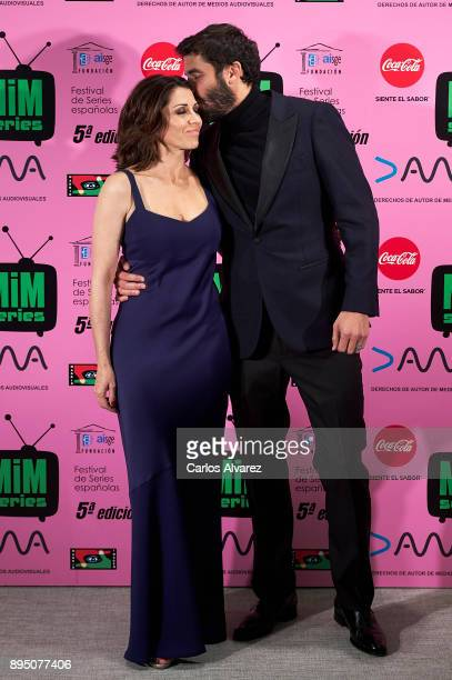 Spanish actress Alicia Borrachero and actor Alex Garcia attend the MIM Series Awards 2017 at the ME Hotel on December 18 2017 in Madrid Spain
