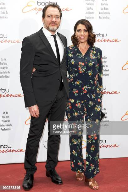 Spanish actress Alicia Borrachero and Ben Temple attend the Bambu 10th anniversary party at Gran Maestre Theater on July 5 2018 in Madrid Spain