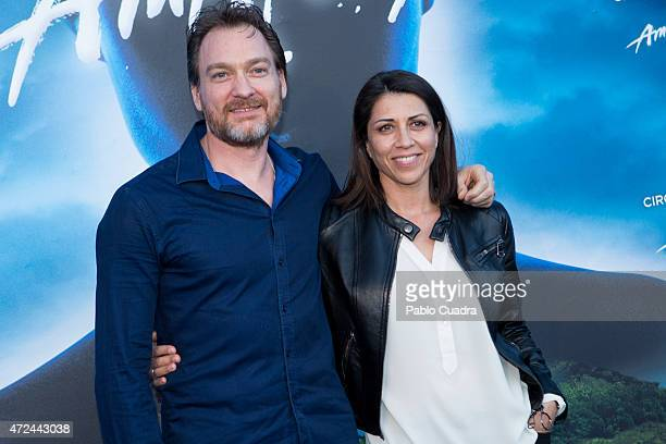 Spanish actress Alicia Borrachero and husband Ben Temple attend the 'Cirque Du Soleil' photocall on May 7 2015 in Madrid Spain