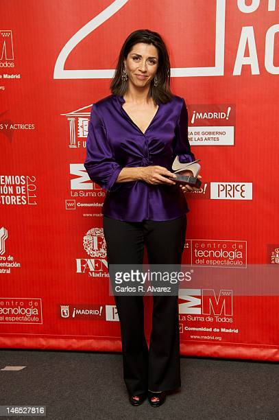 Spanish actress Alicia Borrachero attends 21st 'Union de Actores Awards' 2012 press room at Circo Price Theater on June 18 2012 in Madrid Spain