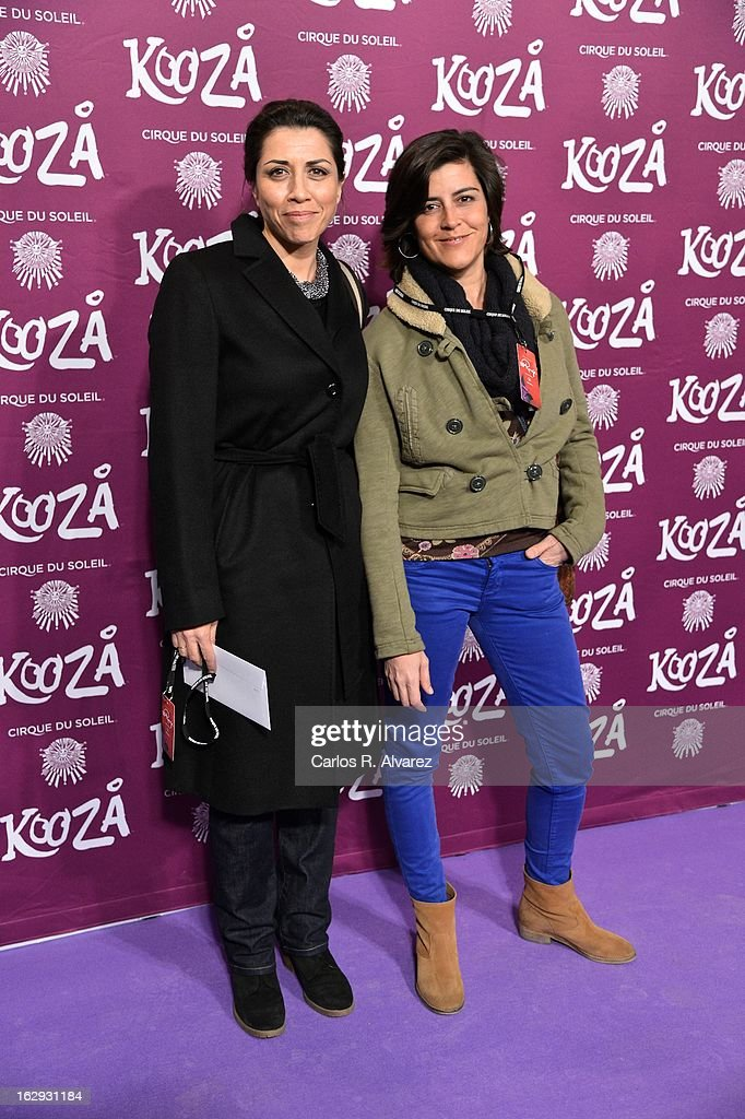 Spanish actress Alicia Borrachero (L) attends 'Cirque Du Soleil' Kooza 2013 premiere on March 1, 2013 in Madrid, Spain.