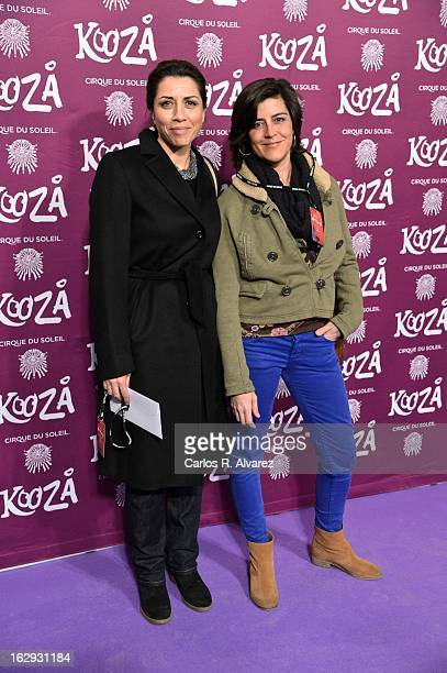 Spanish actress Alicia Borrachero attends Cirque Du Soleil Kooza 2013 premiere on March 1 2013 in Madrid Spain