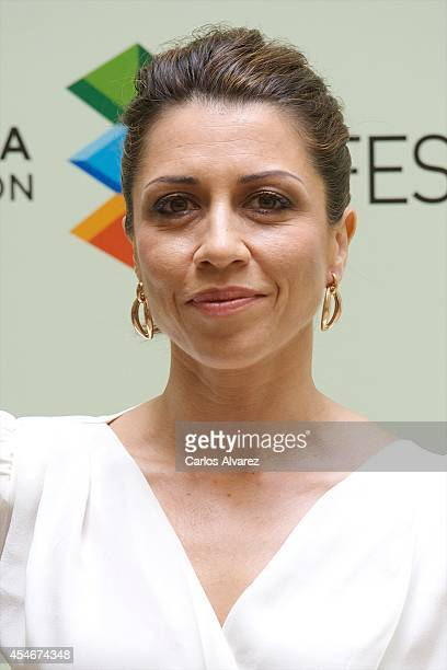 Spanish actress Alicia Borrachero attends the 'Bajo Sospecha' new season photocall at the Villa Suso Palace during the day 5 of the 6th FesTVal...