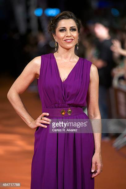 Spanish actress Alicia Borrachero attends the Bajo Sospecha new season premiere at the Principal Theater during day 5 of the 6th FesTVal Television...