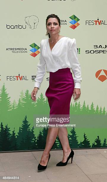 Spanish actress Alicia Borrachero attends the 'Bajo Sospecha' new season photocall at the Villa Suso Palace during day 5 of the 6th FesTVal...