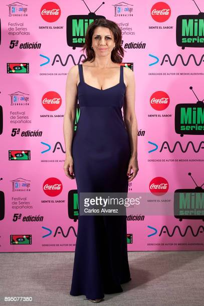 Spanish actress Alicia Borrachero attends the MIM Series Awards 2017 at the ME Hotel on December 18 2017 in Madrid Spain