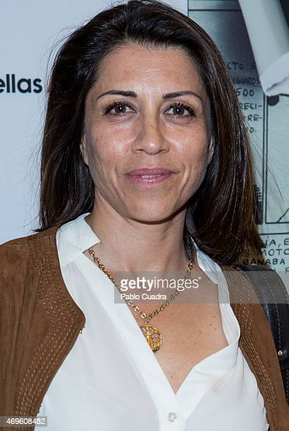 Spanish actress Alicia Borrachero attends the 'Yo Quise Ser Superman' presentation at Bellas Artes theatre on April 13 2015 in Madrid Spain