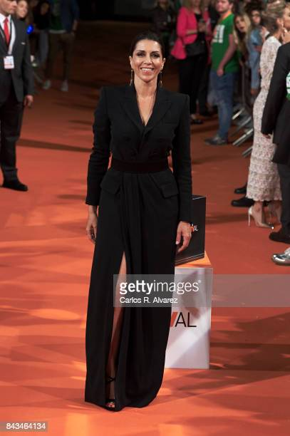 Spanish actress Alicia Borrachero attends 'Tiempo de Guerra' premier at the Principal Teather during the FesTVal 2017 on September 6 2017 in...