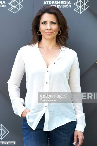 Spanish actress Alicia Borrachero attends 'Tiempos De Guerra' at Antena 3 Television on July 13 2017 in Madrid Spain